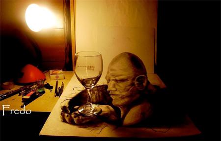 创意3D铅笔画创意设计