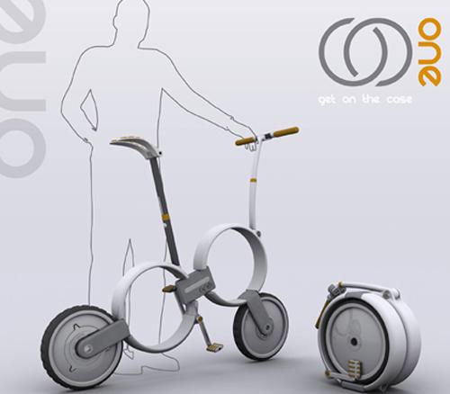 可折叠Q版自行车创意设计