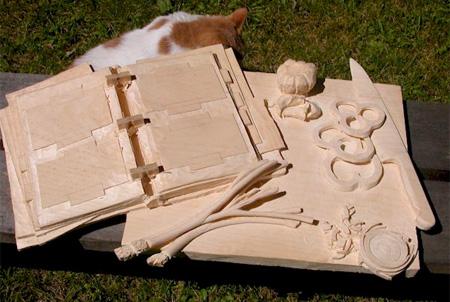 以假乱真的木雕创意设计