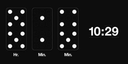 牌九时钟创意设计