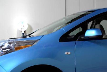 可以给家庭供电的尼桑全电动车创意设计