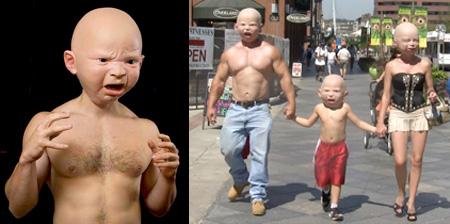 古怪的婴儿面具创意设计