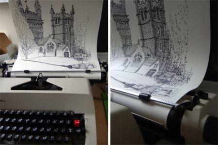打字机作画创意设计