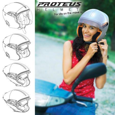 创意折叠头盔创意设计
