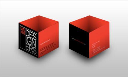创意3D名片赏析创意设计