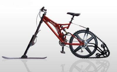 又是雪橇又是履带式的Ktrak山地车创意设计