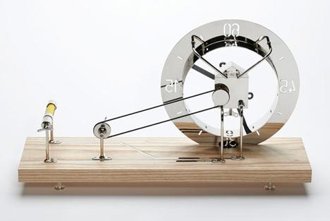 创意纺车时钟创意设计