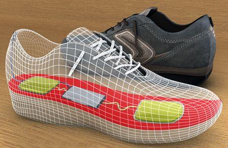 通过行走产生能量的鞋创意设计