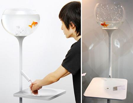 提醒你节约用水的金鱼缸创意设计