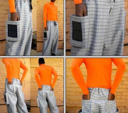 创意太阳能板裤子创意设计