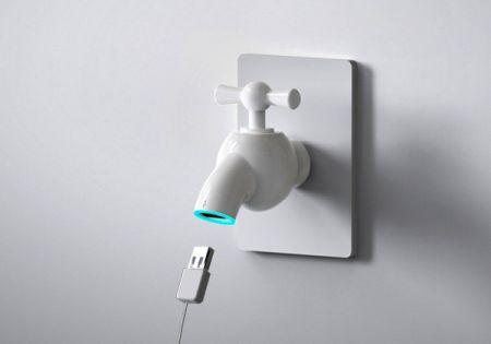 水管USB电源接口创意设计
