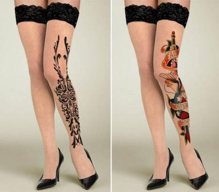 刺青丝袜创意设计