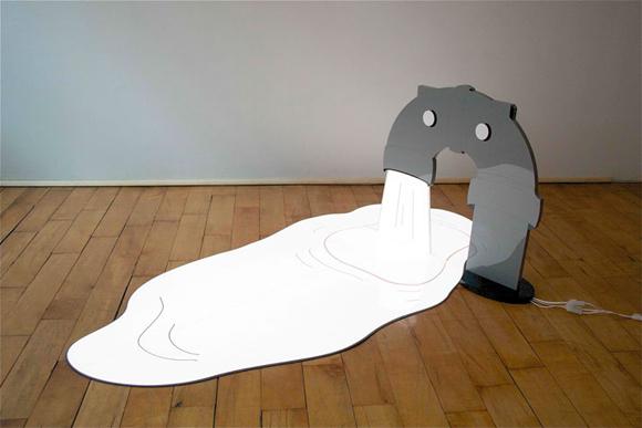 二维和三维结合的照明雕塑创意设计