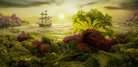 唯美食物摆拍创意设计