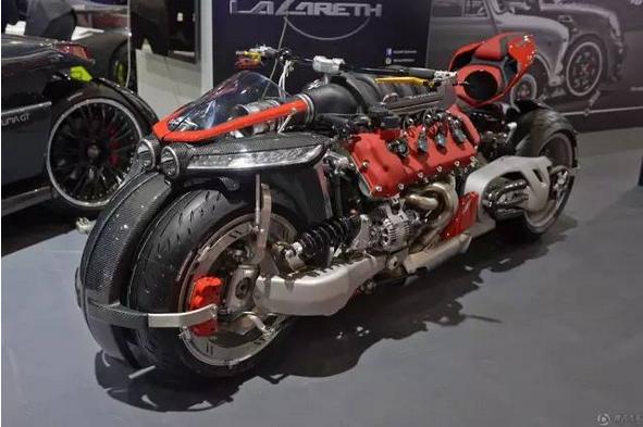 玛莎拉蒂v8引擎摩托车创意设计创意,全球仅10台470匹马力