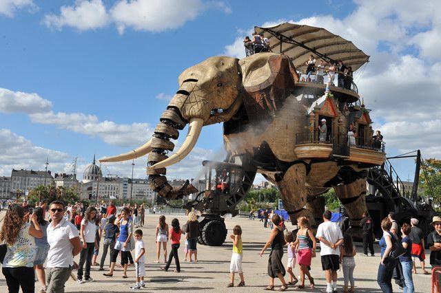 法国南特岛机械城:机器动物出动创意设计
