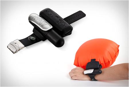 手腕穿戴式救生气囊创意,户外游泳必备