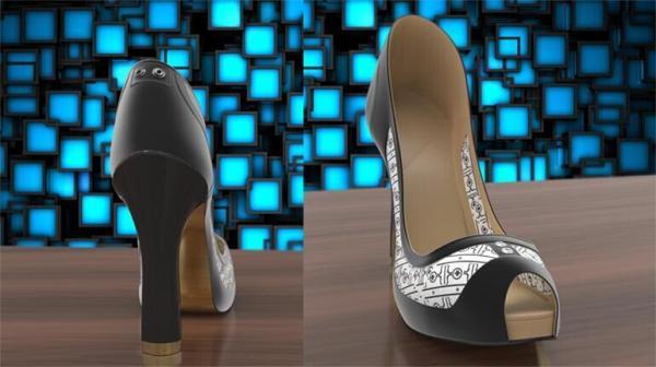 电子墨水高跟鞋Volvorii创意设计