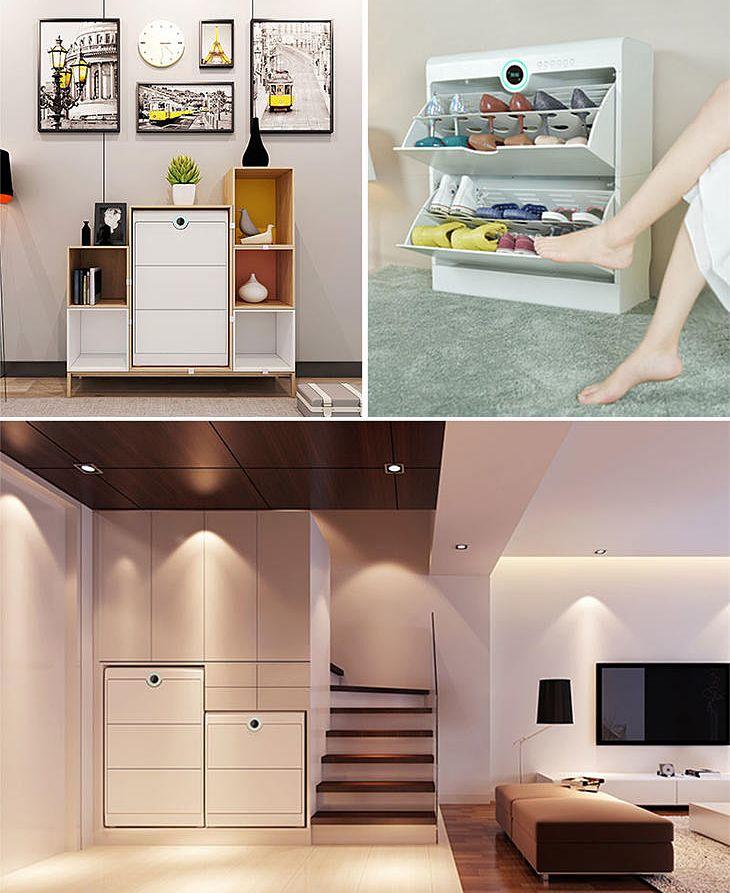 智能鞋柜创意设计,集消毒除味烘干于一体