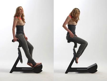 让你坐得健康的站立式座椅创意设计
