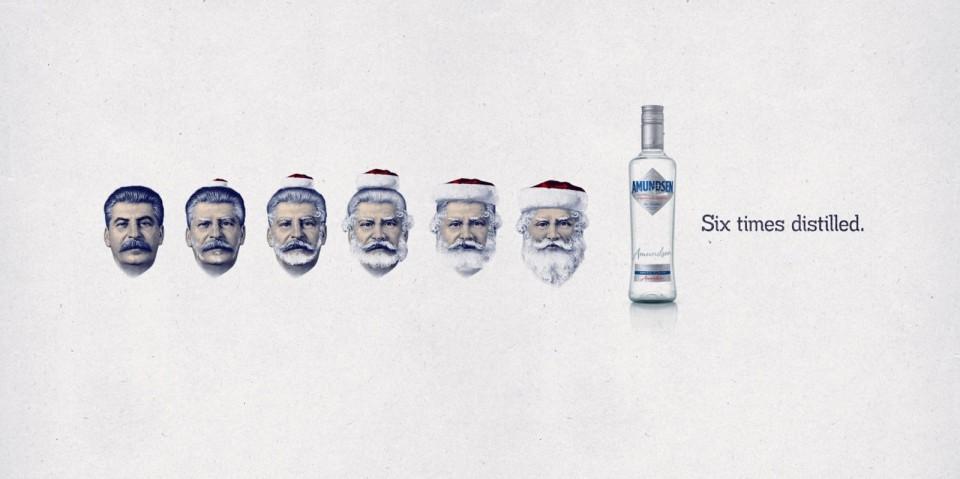 伏特加广告创意设计:六次蒸馏 再坏也会变好