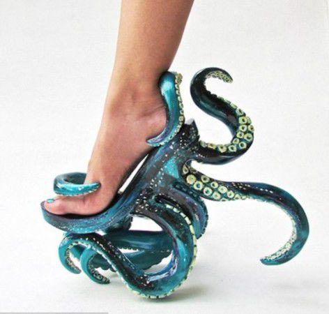 章鱼高跟鞋创意,出自Lady,Gaga钟爱创意设计师