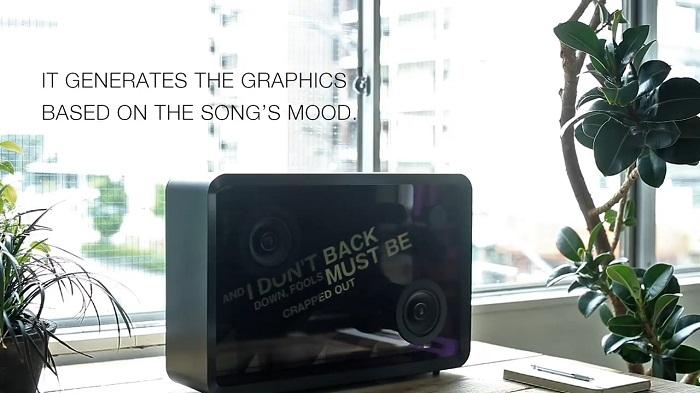 显示歌词的透明音箱创意设计