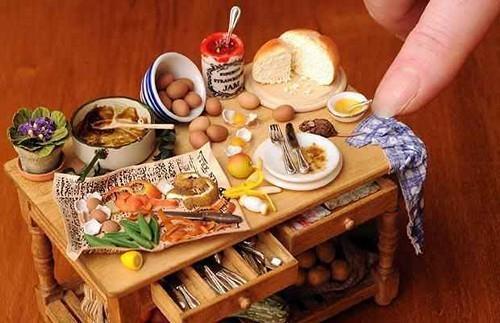 精致的微型食物雕刻创意设计