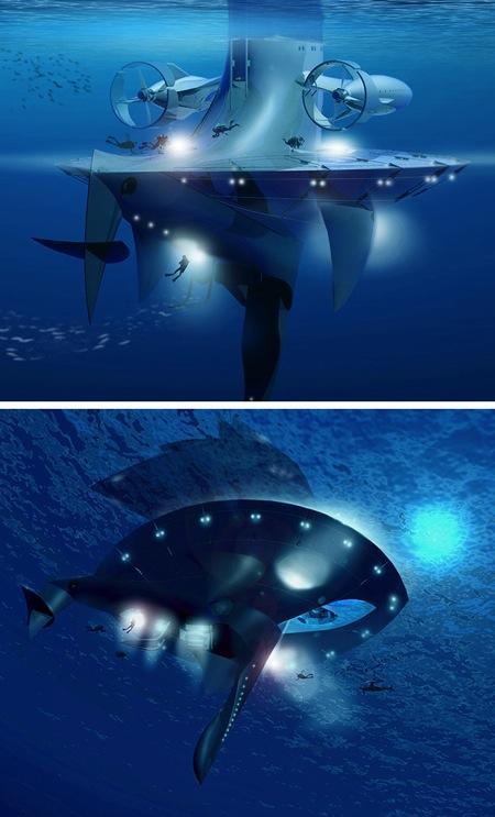 SeaOrbiter-海洋空间站即将动工创意设计