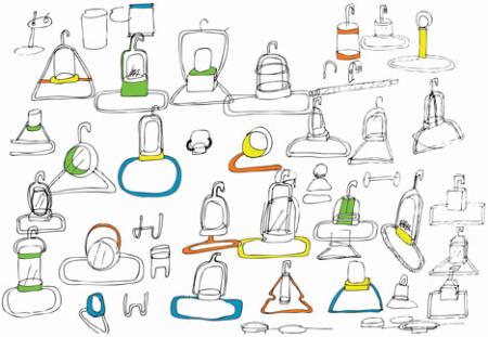 自清洁衣架创意设计