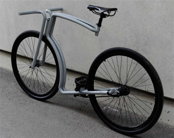 极简主义钢架自行车创意设计