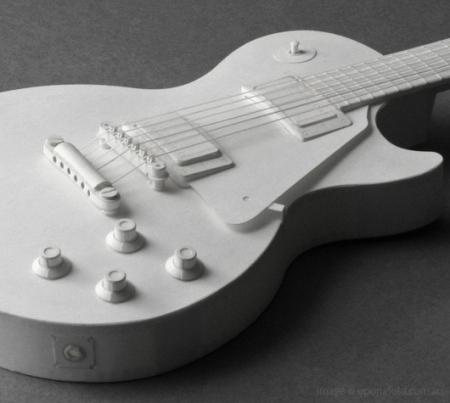 纸板模型电吉他创意设计