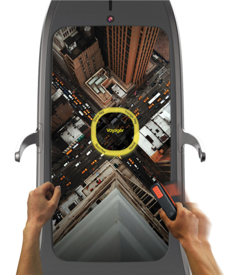 互动虚拟场景跑步机创意设计