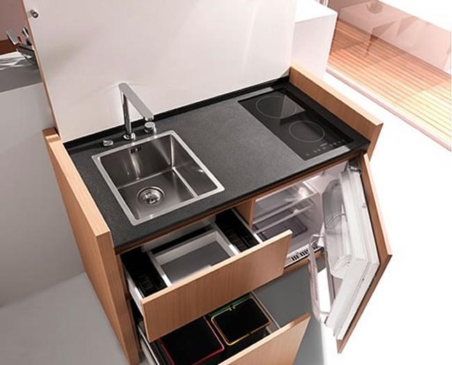 单身公寓必备的迷你厨房创意设计