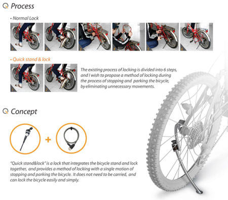 自行车撑锁创意设计