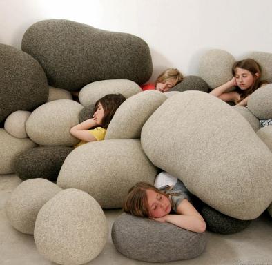 柔软的石头创意设计