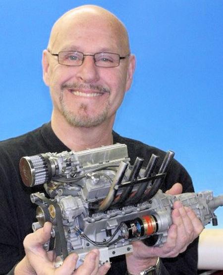 最小的V8引擎模型创意设计