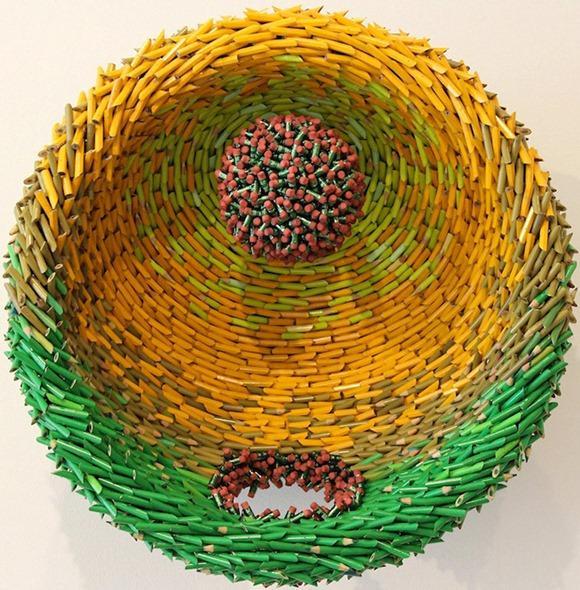 多彩的铅笔雕塑创意设计
