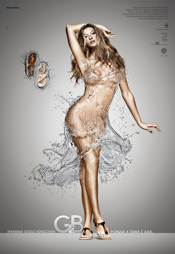 GISELE BUNDCHEN,水裙子创意设计