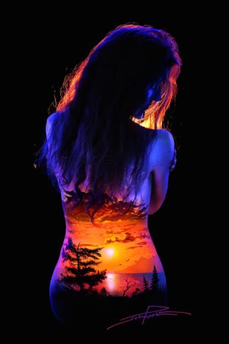唯美人体夜景艺术创意设计
