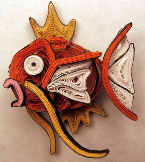 """""""宠物小精灵""""卷纸艺术创意设计"""