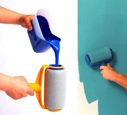 带油漆滚动的粉刷创意,刷墙更加光滑