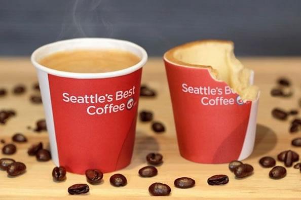 肯德基推出可食用咖啡杯创意设计