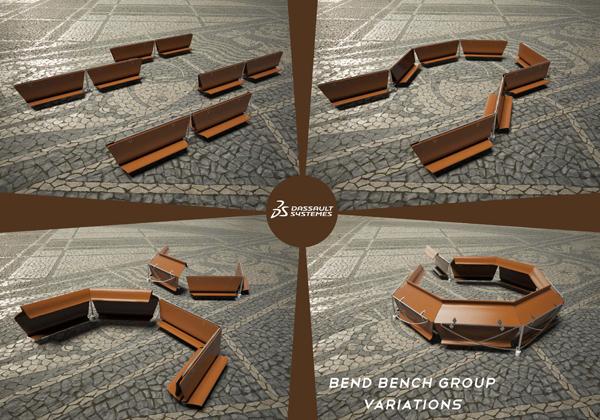 可以翻转的公共椅子创意设计