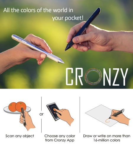 Cronzy创意,Pen智能笔:自带1600万种颜色创意设计