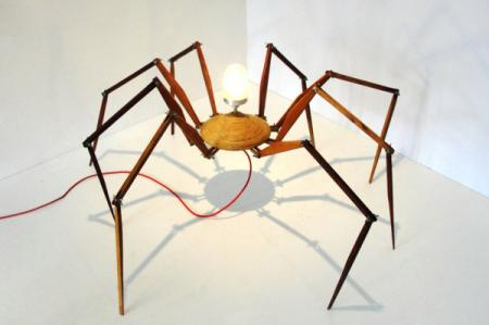 """个性""""蜘蛛""""台灯创意设计"""