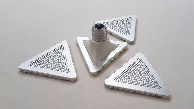 带磁性的模块化创意灯具像积木一样拼接