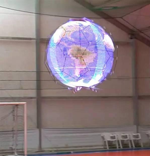 无人机球形显示屏创意,影像残留技术显示