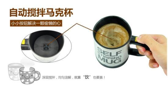 自动搅拌马克杯创意设计