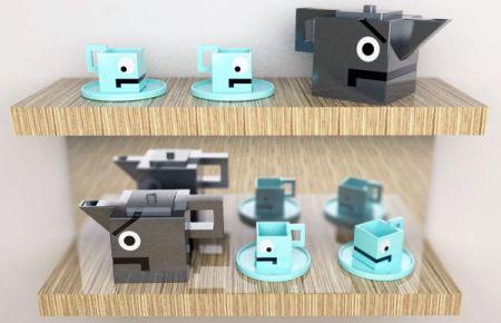 """""""机械小人""""茶具系列创意设计"""